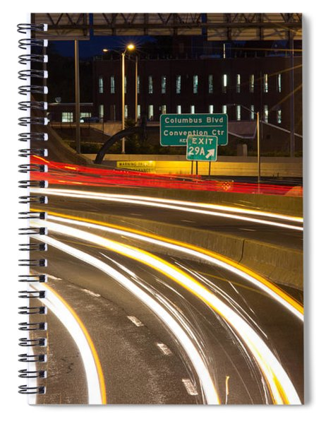 Traveling In Time Spiral Notebook
