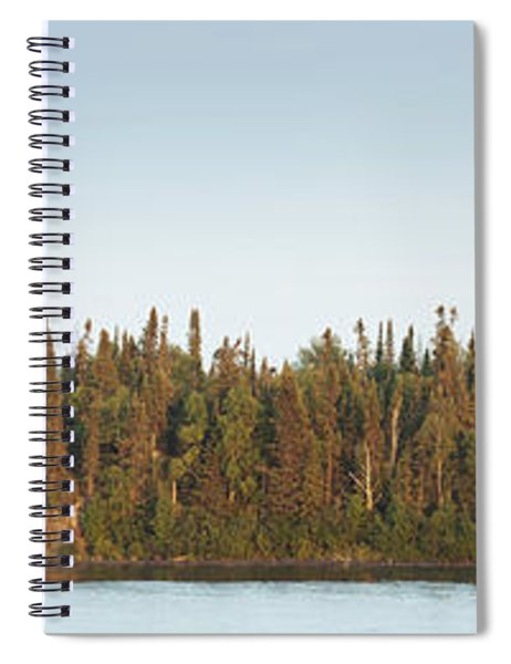Trees Covering An Island On Lake Spiral Notebook