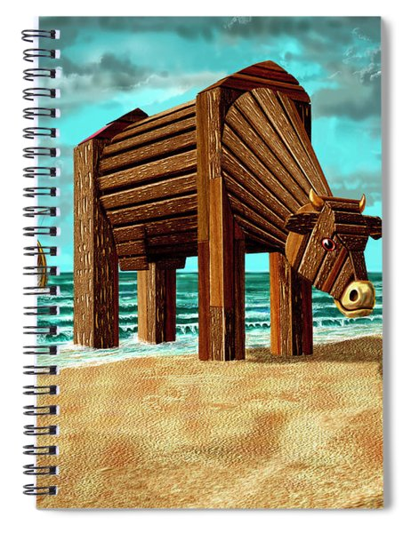 Trojan Cow Spiral Notebook