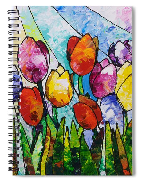 Tulips On Parade Spiral Notebook