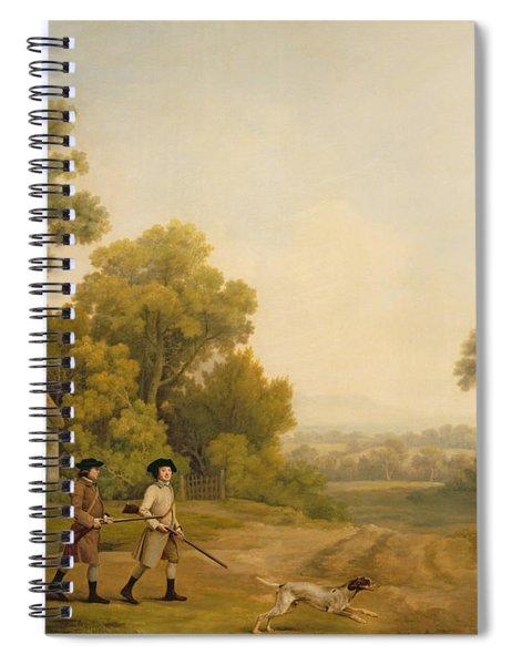 Two Gentlemen Going A Shooting Spiral Notebook
