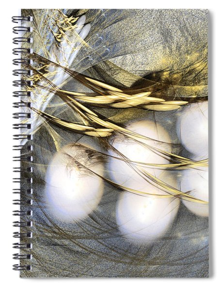 Ultima Thule - Abstract Art Spiral Notebook