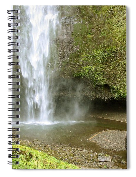 Upper Cascade Pool Multnomah Falls Or Spiral Notebook