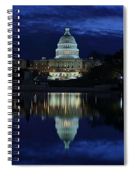 Us Capitol - Pre-dawn Getting Ready Spiral Notebook