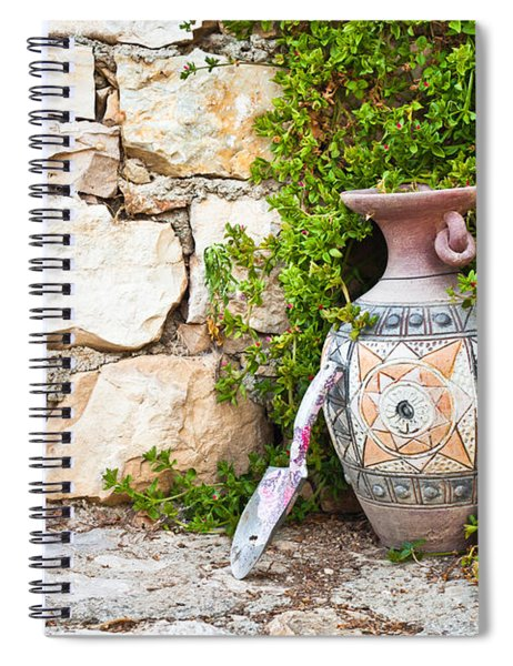 Vase And Trowel  Spiral Notebook