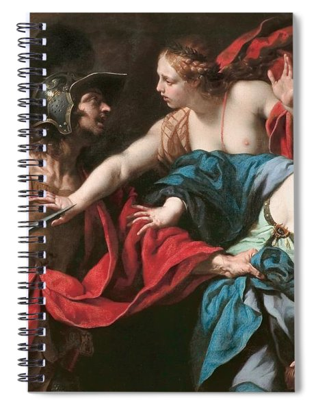 Venus Preventing Her Son Aeneas From Killing Helen Of Troy Spiral Notebook