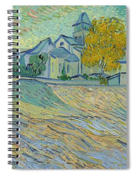 View Of The Asylum And Chapel At Saint Remy Spiral Notebook