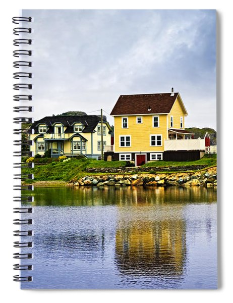 Village In Newfoundland Spiral Notebook