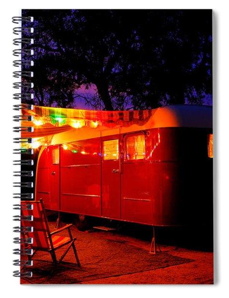 Vintage Vagabond Trailer Spiral Notebook