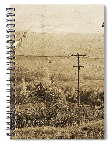 Vintage View Of Ontario Fields Spiral Notebook