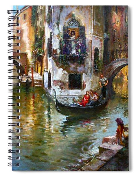 Viola In Venice Spiral Notebook