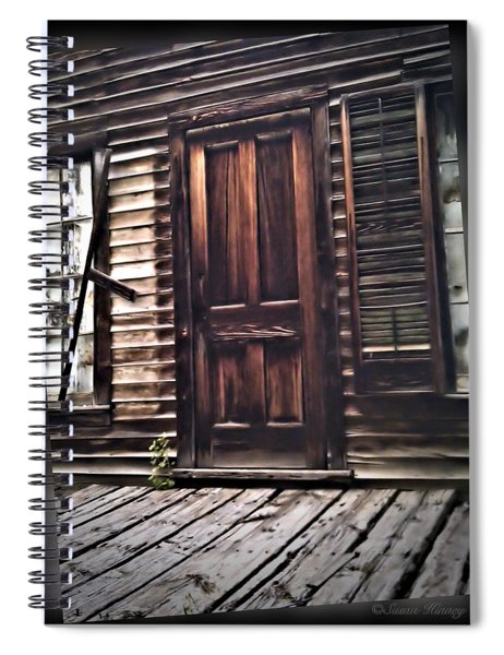 Virginia City Ghost Town Door I Spiral Notebook
