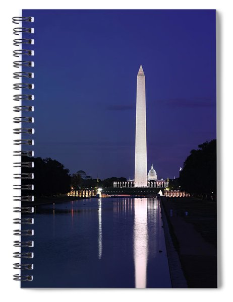 Washington Monument At Sunset Spiral Notebook