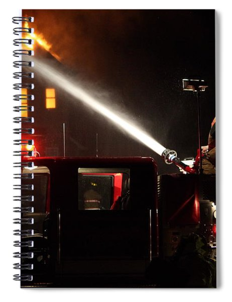 Water On The Fire From Pumper Truck Spiral Notebook