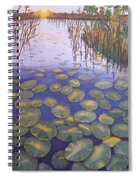 Waterlillies South Africa Spiral Notebook
