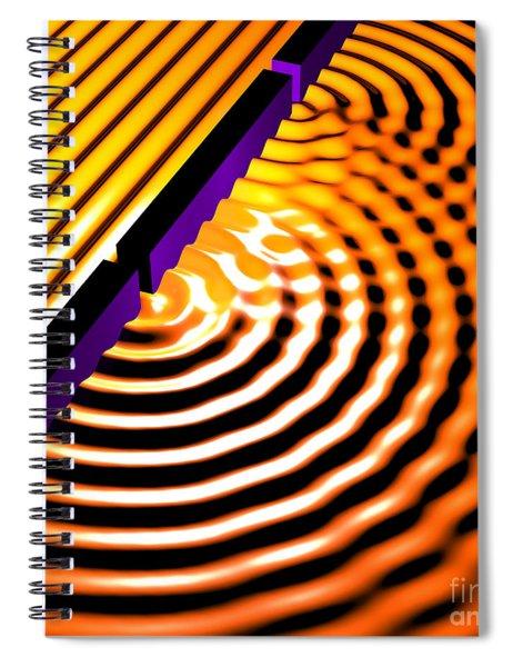 Waves Two Slit 2 Spiral Notebook