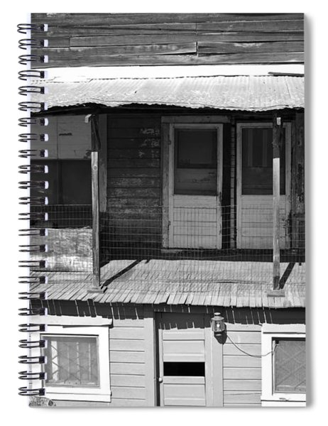 Weathered Home With Satellite Dish Spiral Notebook