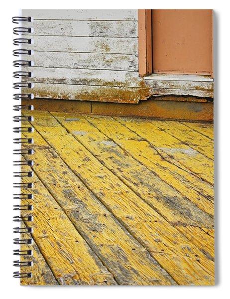 Weathered Monterey Building Spiral Notebook