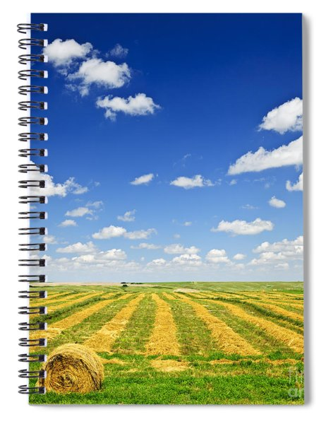 Wheat Farm Field At Harvest Spiral Notebook