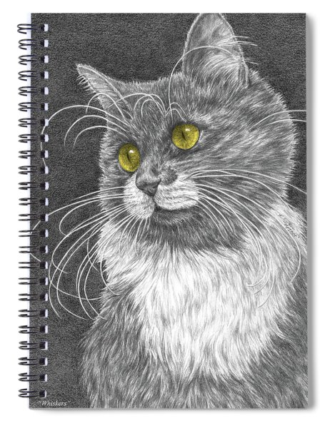 Whiskers - Color Tinted Art Print Spiral Notebook