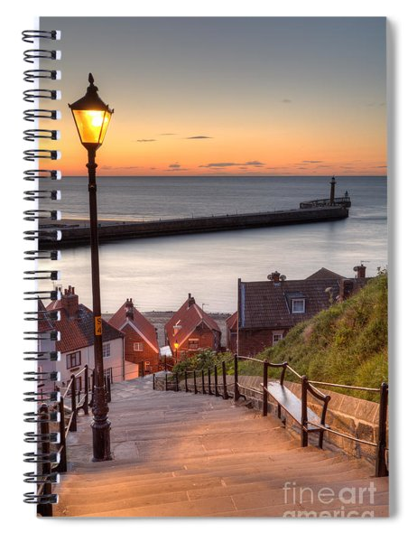 Whitby Steps - Orange Glow Spiral Notebook