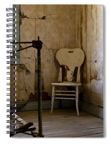 White Chair In The Bedroom Spiral Notebook by Lorraine Devon Wilke