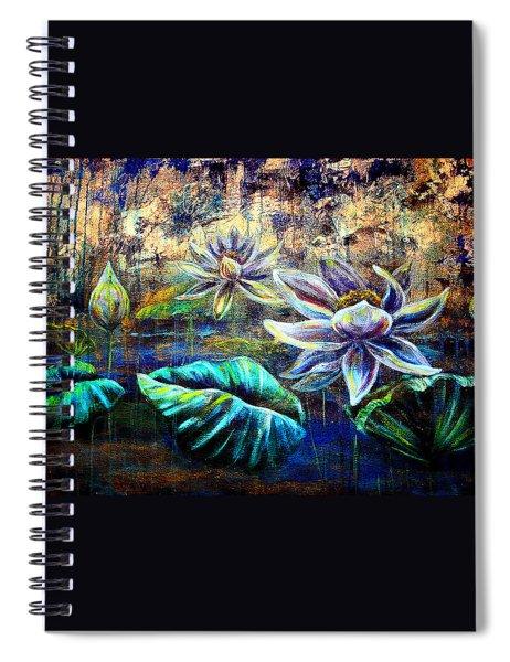 White Lotus Spiral Notebook