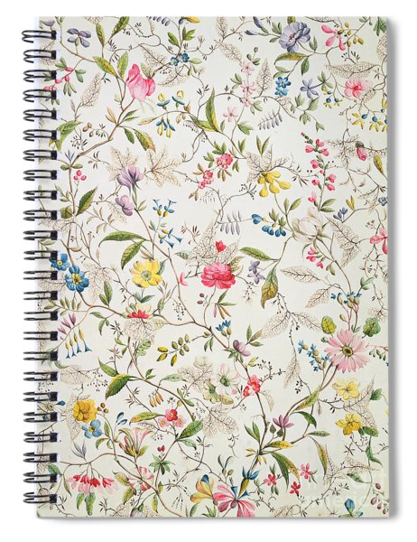 Wild Flowers Design For Silk Material Spiral Notebook
