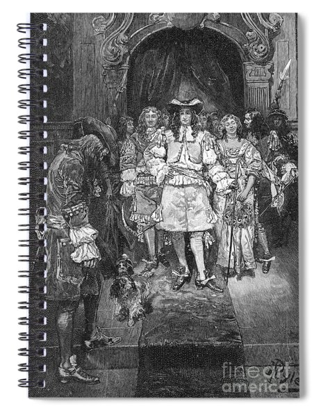William Penn And Charles II Spiral Notebook