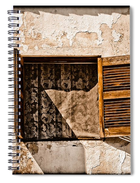 Hanioti, Greece - Window And Lace Spiral Notebook