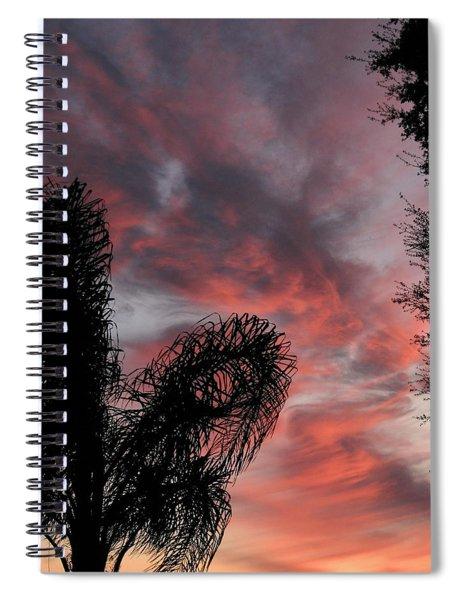 Windswept Clouds Spiral Notebook