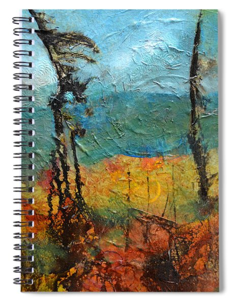 Windswept Pines Spiral Notebook