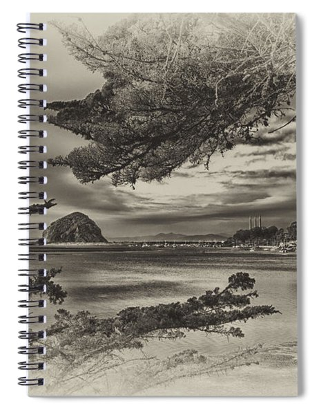 Windy Cove Bw Spiral Notebook