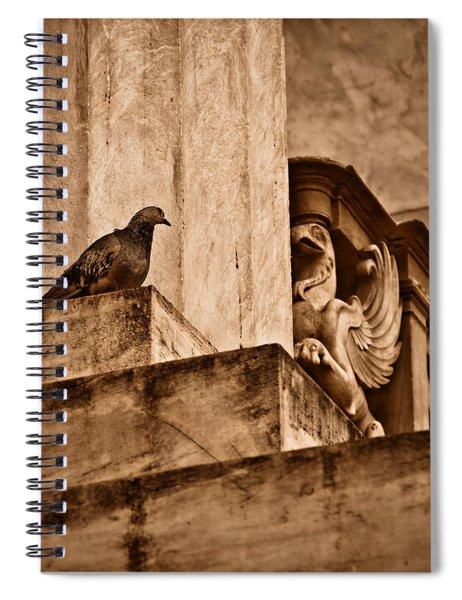 Athens, Greece - Winged Encounter Spiral Notebook