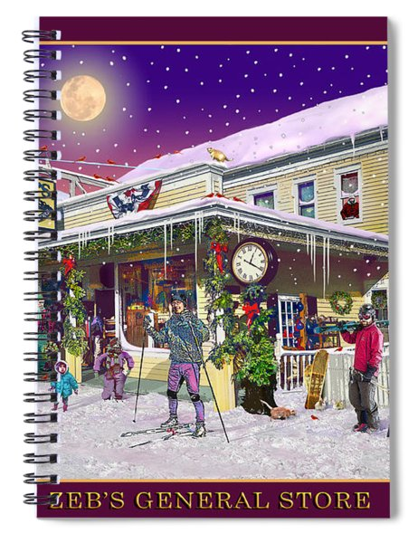 Winter At Zebs General Store In North Conway Nh Spiral Notebook
