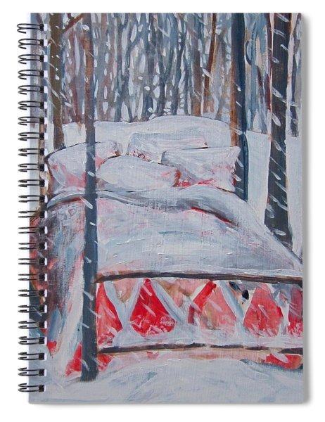 Winter Hybernation Spiral Notebook