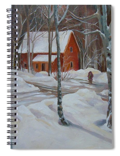 Winter In The Woods Spiral Notebook
