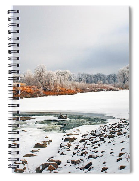 Winter Red River 2012 Spiral Notebook