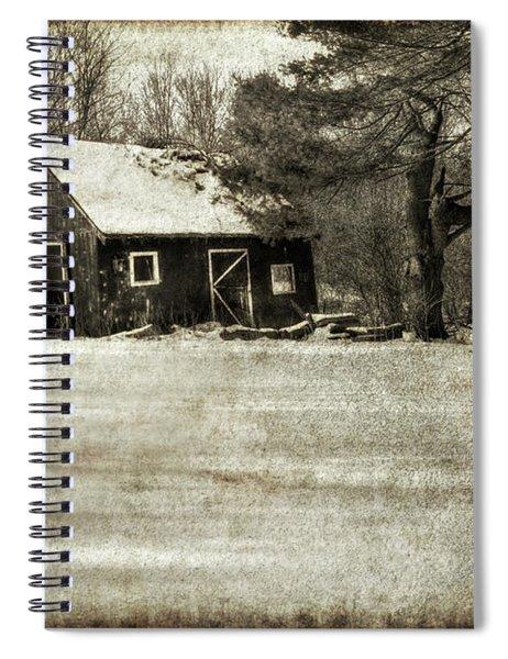 Winter Textures Spiral Notebook