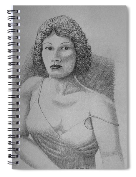 Woman With Strap Off Shoulder Spiral Notebook