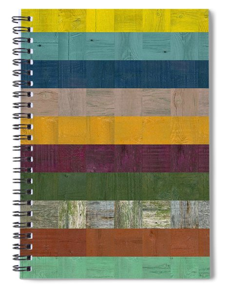 Wooden Abstract Ll Spiral Notebook