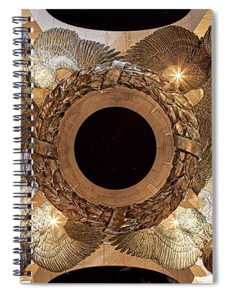 Ww II Memorial Victory Wreath Spiral Notebook