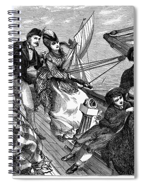 Yachting, 1871 Spiral Notebook