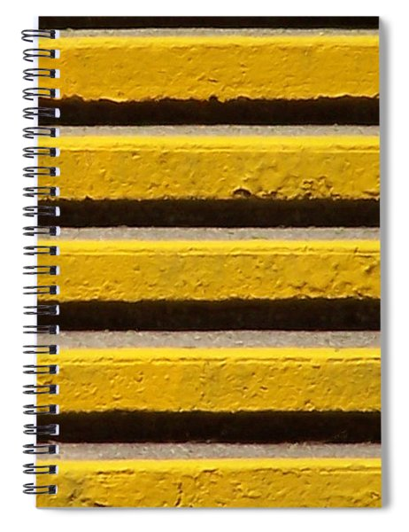 Yellow Steps Spiral Notebook