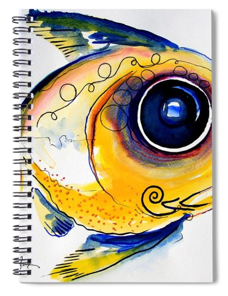 Yellow Study Fish Spiral Notebook