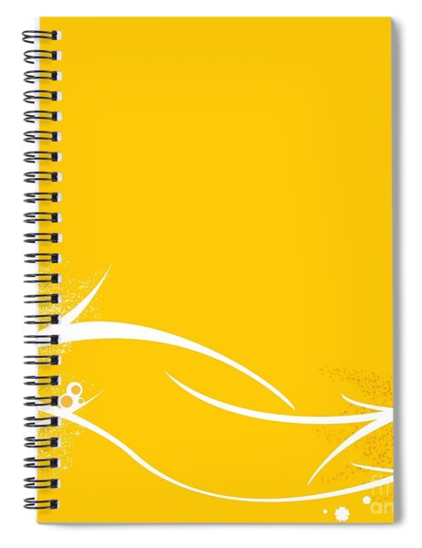 Yellow Twigs Spiral Notebook