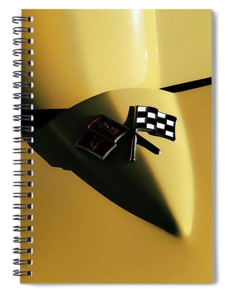 Yellow Vette Badge Spiral Notebook