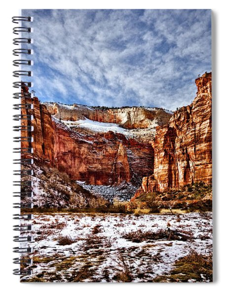 Zion Canyon In Utah Spiral Notebook