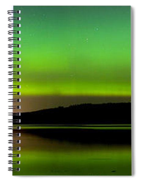 Aurora Over The Beauly Firth Spiral Notebook