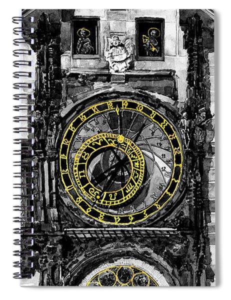 Bw Prague The Horologue At Oldtownhall Spiral Notebook